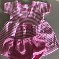 Vestidinho mini baby - 6 a 9 meses - Mini Baby