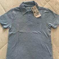 Camiseta Polo Hering Azul Clara - 8 anos - Hering Kids