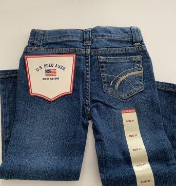 Calça Jeans com strech - 3 anos - US Polo Assn