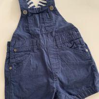 Jardineira sarja azul marinho - 18 a 24 meses - Zara Baby