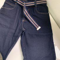 Bermuda Jean com strech e cinto - 14 anos - Okyside