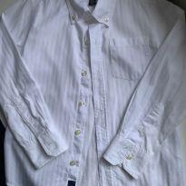 Camisa social Branca m/l GAP - 7 anos - Gap Kids
