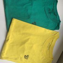 Camisetas Tigor amarela e verde - 12 anos - Tigor T.  Tigre