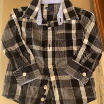 Camisa m/l xadrez - 18 a 24 meses - GAP