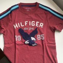 Camiseta bordada Tommy - 7 anos - Tommy Hilfiger