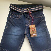 Bermuda Jeans com stretch e cinto - 10 anos - V10 Jeans