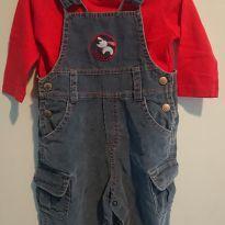 Jardineira e camiseta Tyrol G - 9 a 12 meses - Tyrol