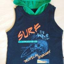 Camiseta regata com capuz - 12 a 18 meses - Baby Club