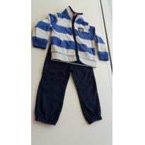 Conjunto em Fleece Carter´s Azul e Branco - 18 meses - Carter`s