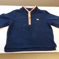 Suéter Carter´s em Fleece Azul Marinho - 18 meses - Carter`s