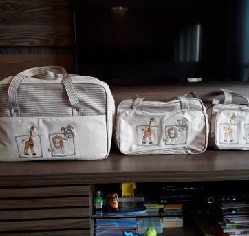 Conjunto de Malas para Bebê - 1 mala, 1 frasqueira e 1 bolsa - Sem faixa etaria - Não informada