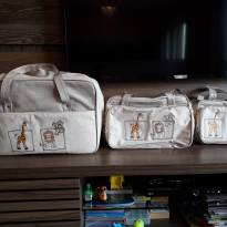 Conjunto de Malas para Bebê - 1 mala, 1 frasqueira e 1 bolsa