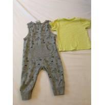 Conjunto Jardineira + Camisa Manga Curta - 3 a 6 meses - Topo Mini