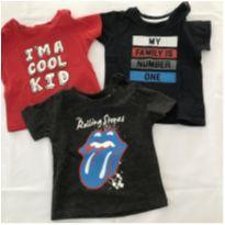 3 Camisetas Estampadas - 6 a 9 meses - Primark