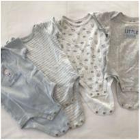 Conjunto de 4 Bodies BabieRUs - 6 a 9 meses - Babies R Us