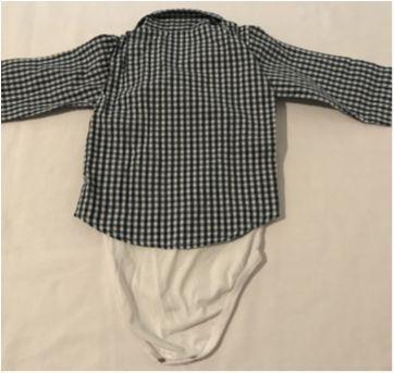 Body Com Camisa Xadrez - 12 a 18 meses - Baby Classic