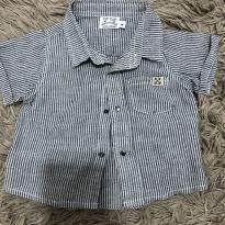 Camisa de botões - 3 a 6 meses - Tip Top