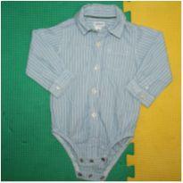 Body camisa social Carter`s - 6 meses - Carter`s