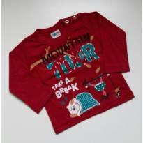 Camiseta Manga Longa Montain - Mini Lunny - Tam P - 0 a 3 meses - Mini Lunny