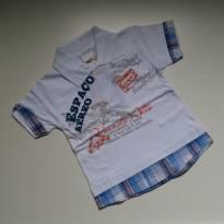 Camiseta Polo Sobreposição - Kaiani - Tam M - 3 a 6 meses - KAIANI