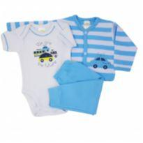 Conjunto com Casaco Carro - Best Club Tam GG - 9 a 12 meses - Best Club