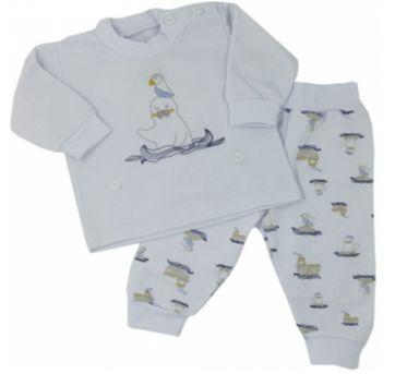 Pijama com Botão na Cintura - Dedeka - Tam P - 0 a 3 meses - Dedeka