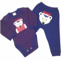 Best Club - Conjunto Urso Marinheiro - Tam GG - 9 a 12 meses - Best Club