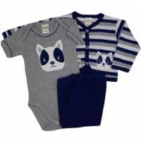 Best Club - Conjunto com Casaco - Tam GG - 9 a 12 meses - Best Club
