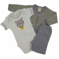 Best Club - Conjunto com Casaco Urso Tam GG - 9 a 12 meses - Best Club