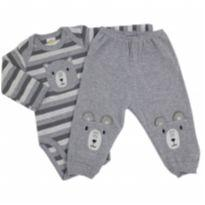 Best Club - Conjunto Mescla Urso Tam GG - 9 a 12 meses - Best Club
