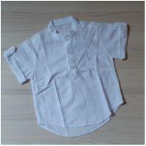 Camisa Branca Verão - Tam G - 6 a 9 meses - Não informada