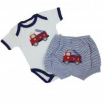 Best Club - Conjunto Bombeiro Tam P - 0 a 3 meses - Best Club
