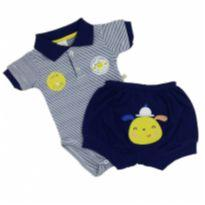 Best Club - Conjunto Polo Sweet Tam GG - 9 a 12 meses - Best Club