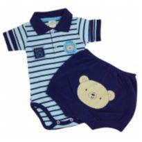 Best Club - Conjunto Polo Globe Tam P - 0 a 3 meses - Best Club