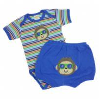 Best Club - Conjunto Macaco Tam P - 0 a 3 meses - Best Club