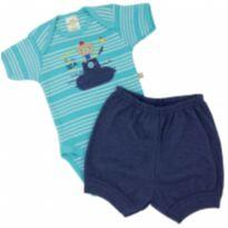Best Club - Conjunto Submarino Tam P - 0 a 3 meses - Best Club