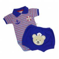 Best Club - Conjunto Polo Marinheiro Tam P - 0 a 3 meses - Best Club