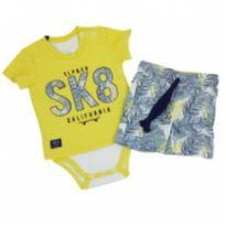 Sleeping Pill - Conjunto SK8 Tam M - 3 a 6 meses - Sleeping Pill