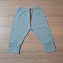 Calça com pé reversível Azul - Tam M - 3 a 6 meses - LUIZINHO BABY
