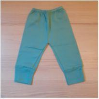 Calça com pé reversível Verde Água - Tam P - 0 a 3 meses - LUIZINHO BABY