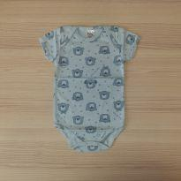 Body Estampa Urso Azul - Pulla Bulla - Tam G - 6 a 9 meses - Pulla Bulla