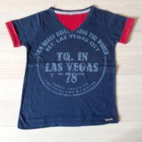 Camiseta Las Vegas - TAM 4 - 4 anos - Não informada