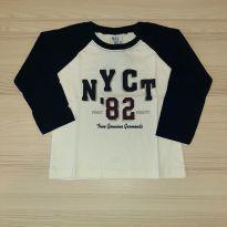 Camiseta Bege/Preto - Pulla Bulla Tam 1 - 1 ano - Pulla Bulla