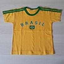 Camiseta Brasil - Tam 3 - 3 anos - Não informada