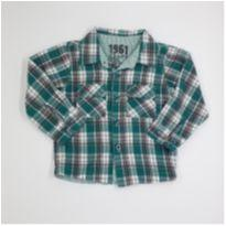 Camisa Xadrez Verde Tip Top - Tam 2T - 18 a 24 meses - Tip Top