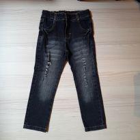 Calça Jeans Preta - Tam 4 - 4 anos - Não informada