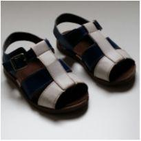 Sandália Azul e Branco Pimpolho TAM 21 - 21 - Pimpolho
