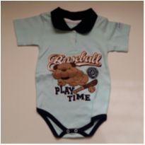 Body Polo Baseball Azul  - TAM 1 - 1 ano - Le & Ma Baby