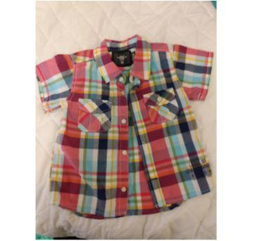 Camiseta xadrez - 9 a 12 meses - H&M