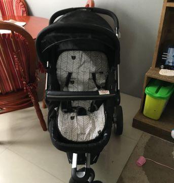 Carrinho de Bebe Kiddo Compass II Preto - Sem faixa etaria - Kiddo